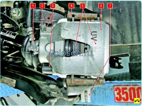 Тормозной механизм переднего колеса Поло седан