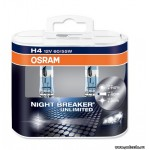 фото Лампа цоколь H4 NIGHT BREAKER UNLIMITED 2 шт Osram