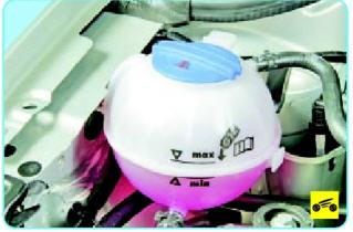 Проверяем уровень охлаждающей жидкости в двигателе Поло седан