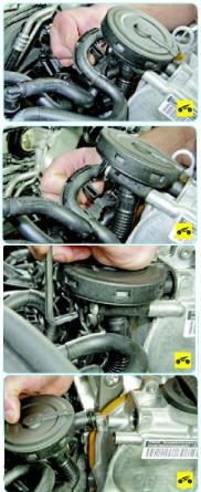 Очистка системы вентиляции картера двигателя Поло седан