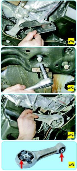 Замена задней подушки двигателя поло седан