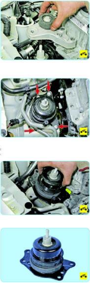 Замена правой опоры двигателя Поло седан