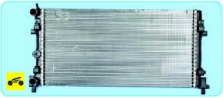 Радиатор с горизонтальным потоком жидкости
