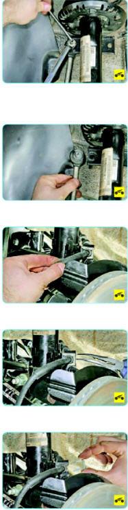 установка передней стойки Поло седан