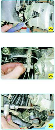 Замена суппорта переднего тормоза Поло седан