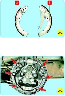 Замена задних тормозных колодок Поло Седан