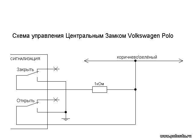 точки подключения сигнализации с автозапуском на поло седан.